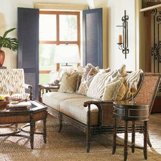 You'll feel right at home on the Las Palmas sofa by Tommy Bahama, part of the exotic Landara collection.