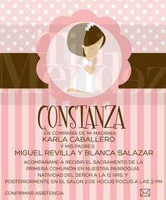 Invitacion De Primera Comunion. - Monterrey - $ 70.00 en MercadoLibre