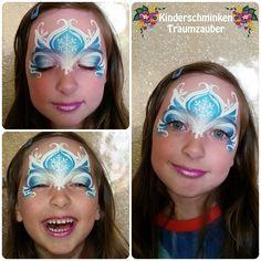 Elsa-Maske by Kinderschminken Traumzauber (Design by Olga Murasev) #kinderschminken #facepainting #elsa #eiskönigin