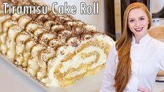 AMAZING Tiramisu Cake Roll with Italian Mascarpone Frosting!! - YouTube Tiramisu Swiss Roll Recipe, Easy Tiramisu Recipe, Tiramisu Dessert, Cake Roll Recipes, Dessert Recipes, Desserts, How To Make Tiramisu, Tatyana's Everyday Food, Espresso And Cream