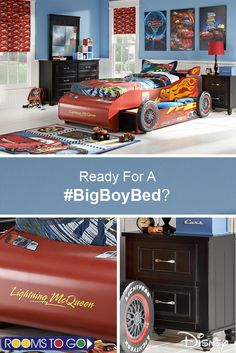 Your Little One Isn T So Anymore And That Means It S Time For A Make Bedtime Exciting With The Adorable Lightning Mcqueen Bed Boy Beds Now