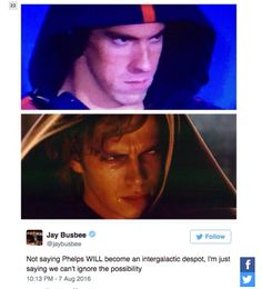 #Phelpsface puts Anakin AND Kylo Ren to shame
