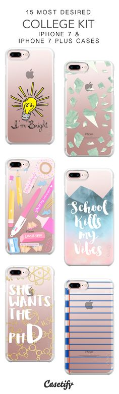 15 Most Desired College Kit Protective iPhone 7 Cases and iPhone 7 Plus Cases. More School iPhone case here > https://www.casetify.com/collections/top_100_designs#/?vc=xRDQQhYYTK