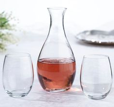 The Wine Ceremony Decanter & Glass Set is used during the popular wedding wine ceremony. This wine ceremony set includes a beautiful customized decanter and two wine glasses. Wine Decanter Set, Wine Glass Set, Stemless Wine Glasses, Wine Related Gifts, Personalized Wine Glasses, Personalized Gifts, Kirchen, Wedding Favors, Wedding Ceremony