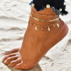 $9.40 | ZG Colorful Rope String Chain Ankles For Women Boho Beads Barefoot Bracelet Ankle on Leg Female Ankle Strap Foot Jewelry Outfit Accessories FromTouchy Style | Free International Shipping. Leg Chain, Ankle Chain, Ankle Strap, Ankle Jewelry, Ankle Bracelets, Waist Jewelry, Wrap Bracelets, Teenager Fashion Trends, Beach Foot Jewelry