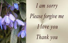 Ho'oponopono mantra cleaning meditations prayers I am sorry Please forgive me I love you I thank you