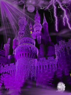 Castle Fantasy BKG 3 - purple by