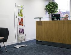 A4 and A5 Floor standing brochure holder display system
