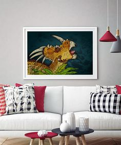 Dinosaur Print Styracosaurus Jurassic Park Jurassic World