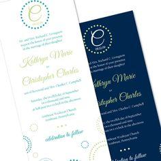 Circles & Dots - Unique Wedding Invitation by The Green Kangaroo