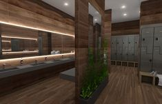 interior gym 3d rendering
