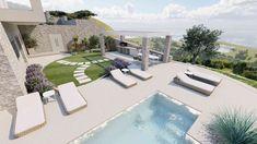 Grammiki-a-Architecture-Design-Studio-Διαμόρφωση-εξωτερικού-χώρου-πισίνας-3 (1) Διακόσμηση και Διαμόρφωση Εξωτερικού Χώρου – κήπου με πισίνα. Πρόκειται για τον κήπο μιας μονοκατοικίας Outdoor Decor, Home Decor, Decoration Home, Room Decor, Home Interior Design, Home Decoration, Interior Design