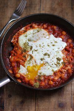 Garbanzo bean shakshuka Jewhungry the blog