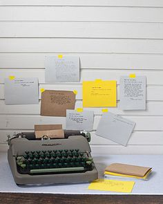 typed messages for a wedding guestbook. nice idea and, you know...the colours :)