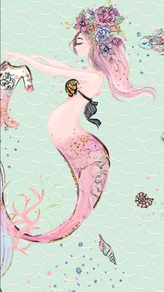 Omggg I lOve this! - Omggg I lOve this! Unicorns And Mermaids, Real Mermaids, Mermaids And Mermen, Mermaid Under The Sea, The Little Mermaid, Mermaid Pictures, Drawn Art, Merfolk, Mermaid Art