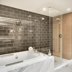 Spaces Grey Tile Design, Pictures, Remodel, Decor and Ideas - page 2