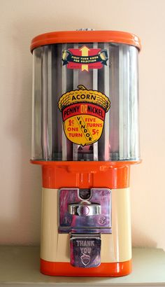 Vintage Candy Machine Gum Machine Antique by TheOrangeHorse, $190.00