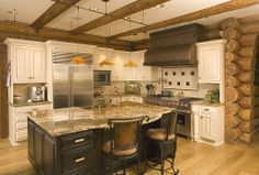 This is what Jeff wants to do to our kitchen. I'm not so sure about the black base... But I like the dual color scheme. Rustic Kitchen - Found on Zillow Digs. What do you think?