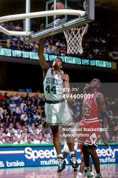 Fotografia de notícias : Rick Fox of the Boston Celtics shoots against...