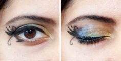 Swan-Shaped Eyeliner And Mermaid Eyeshadow