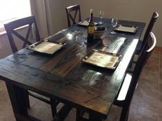 Dining Room Fabulous Narrow Farm Table Modern Farmhouse Table regarding size 1024 X 768 Farm Style Dining Table Set - The best way to decorate your desk is Farm Style Dining Table, Farmhouse Kitchen Tables, Rustic Table, Farm Tables, Wood Tables, Dining Room, Dining Tables, Rustic Wood, Diy Table