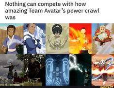 The fact that EVERYONE leveled up on the journey is proof of how good of a show this is. All the characters matter and develop. It's not just Aang getting the power-ups and I think that's another area Korra failed. Avatar Aang, Avatar Airbender, Avatar The Last Airbender Funny, The Last Avatar, Avatar Funny, Team Avatar, Make Avatar, Avatar Facts, Zuko And Katara