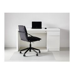 IKEA - MALM, Desk, white, , You can collect cables and extension cords on the shelf under the table top, so they're hidden but still close at hand.Can be placed anywhere in the room because the back is finished.You can mount the storage unit to the right or left, according to your space or preference.