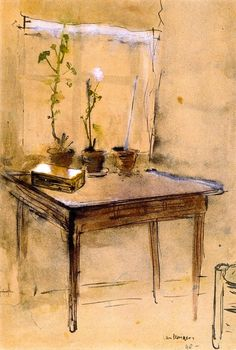 Poor Interior, 1898 by Kees Van Dongen (Dutch, Henri Matisse, Monet, Art Fauvisme, Maurice De Vlaminck, Art Aquarelle, Georges Braque, Dutch Painters, Dutch Artists, Art Moderne