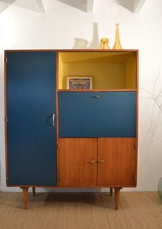 """Secrétaire vintage """"Lucienne"""" ♥ Prix : 680€ ♥ Dimensions: l = 125cm H = 155,5cm P = 45,5cm"""