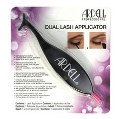 Ardell Dual Lash Applicator. Easily Apply False Eyelashes. Curved End for Flawless Application. Angled Tip To Secure Lashes.
