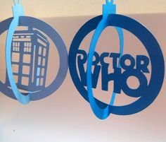 Set of 2 Dr Who Tardis Christmas ornaments/gift by desolationallie, $5.00