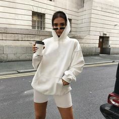 S Bust 115cm Sleeve Length 45cm Top Length 75cm Waist 62cm Pants Length 50.5cm M Bust 119cm Sleeve Length 46cm Top Length 76cm Waist 66cm Pants Length 51.5cm L Bust 123cm Sleeve Length 47cm Top Length 77cm Waist 70cm Pants Length 52.5cm XL Bust 127cm Sleeve Length 48cm Top Length 78cm Waist 74cm Pants Length 53.5cm Tracksuit Set, Sports Hoodies, Sweater And Shorts, Loose Shorts, Two Piece Outfit, Short Outfits, Casual Outfits, Fashion Outfits, Suits For Women