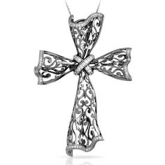 Belle etoile Antoinette Cross Pendant available Michael Herr Diamonds & Fine Jewelry. Visit our St. Louis area store or contact us to order.
