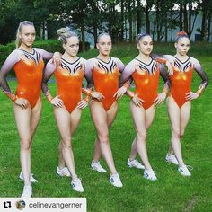 Say hello to these ladies. Dutch Elite Gymnasts . . #Repost @celinevangerner with @repostapp OrangElegance only a few days left #7-8-2016 #competitionday #gymnastics #rio2016
