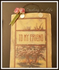 Shabby Gift Hanging Tutorial {And a Free Vintage Image Download!}...this is so sweet and there is also a tutorial for a shabby hanger gift, love this!