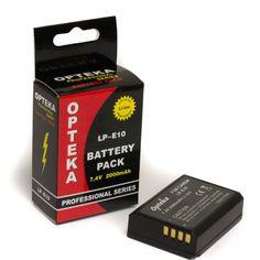 Opteka LP-E10 2000mAh Ultra High Capacity Li-ion Battery Pack for Canon EOS Rebel T3 (1100D) - http://slrscameras.everythingreviews.net/10198/opteka-lp-e10-2000mah-ultra-high-capacity-li-ion-battery-pack-for-canon-eos-rebel-t3-1100d.html