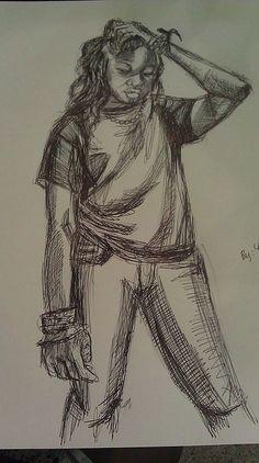 Pen sketch, Kesh 2 by Nezifah Momodou http://nezimomodu.com/ http://aboveignorance.tumblr.com/ https://instagram.com/theafricanartist/ https://twitter.com/nezifah https://soundcloud.com/nezi-momodu https://youtube.com/channel/UCe0nBnh5cPYFfKw5XF8Kcrg Nezifah.momodu@ttu.edu