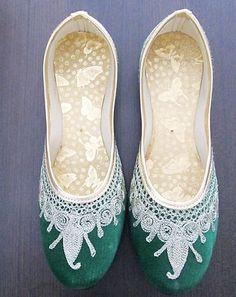 Indian Traditional Shoes Jaipuri Mojari Khussa Wedding Shoes Punjabi Jutti | eBay