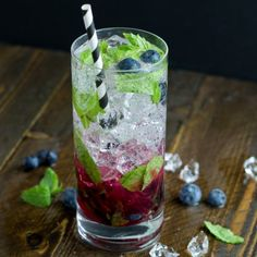 Blueberry mojitos - simple and delicious. the perfect summer cocktail