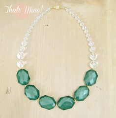 Emerald Statement Necklace Emerald and by ThatsmineBoutique, $42.00