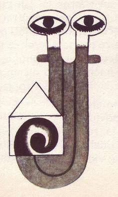 02 Kveta Pacovska (Czech), 1973, illus. for Pohadky Pro Vsedni Dny I Pro Svatky (detail) by 50 Watts, via Flickr