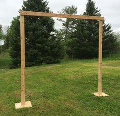 3 Piece White Cedar Wedding Arch