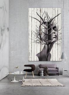 el erizo, printed paper on wood antoniomora artworks