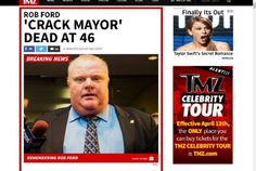 Media, celebrities react to Rob Ford's death:  The former mayor, who died Tuesday morning after battling cancer, became an international icon during his time in office.  (Toronto Star 22 March 2016)