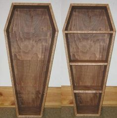 The Homicidal Homemaker's favorite frightful finds: DIY Coffin prop or coffin bookcase.