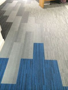 Carpet Tile Planks by Interface flooring.                              …