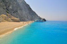 Egremni, Lefkada, Greece...love this super secluded beach