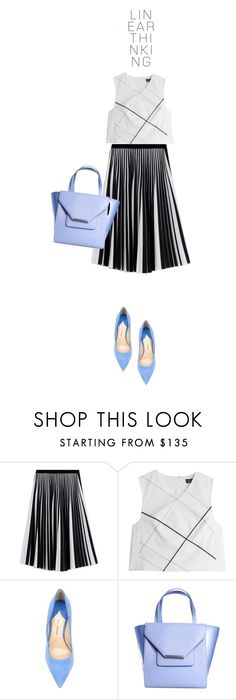 """""""B & W with Powder Blue"""" by youaresofashion ❤ liked on Polyvore featuring Proenza Schouler, Paul Andrew, Ted Baker, women's clothing, women, female, woman, misses, juniors and Packandgo"""