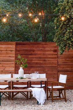 Outdoor Furniture Sets, Easy Backyard, Outdoor Decor, Backyard Design, Patio Makeover, Outdoor Living, Cheap Home Decor, Outdoor Furniture, Outdoor Lighting