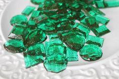 Bowl of Green Sugar Gems